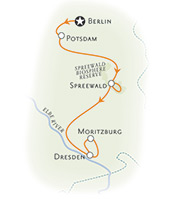 Dresden Berlin bike tour map